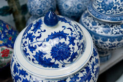 Painted porcelain crafts Stock Photo
