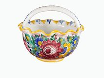 Painted porcelain cup Royalty Free Stock Photo