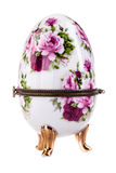 Painted Porcelain egg Stock Photo