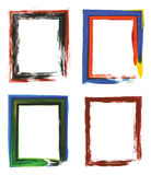 Painted portrait frames. Vector illustration of four colorful painted portrait frames stock illustration