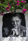 Painted portrait of Marquez in Colombia Stock Images