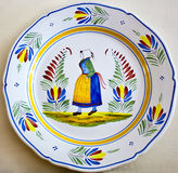Painted pottery plate Royalty Free Stock Photos