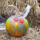 Painted Pumpkin Stock Image