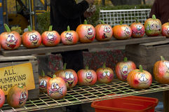 Painted Pumpkins Stock Photography