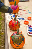 Painted Pumpkins Stock Photos