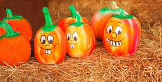 Painted Pumpkins Royalty Free Stock Photo