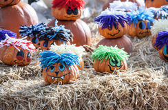 Painted pumpkins Stock Photo