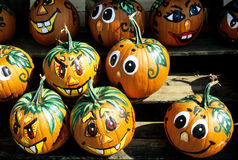 Painted pumpkins faces Royalty Free Stock Image