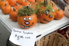 Painted Pumpkins Royalty Free Stock Photography