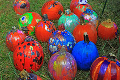 Painted Pumpkins Stock Image