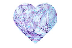 Painted Purple Heart Stock Images