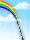 Painted rainbow Stock Image