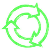 Painted recycle icon Royalty Free Stock Photography