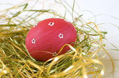 Painted Red Easter Egg Royalty Free Stock Images
