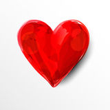 Painted red heart Royalty Free Stock Photo