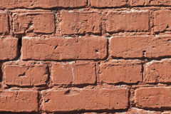 Painted with red paint bricks Royalty Free Stock Images