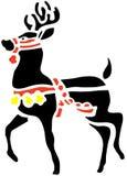 Painted Reindeer Stock Image