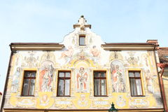 Free Painted Renaissance House In Kutna Hora Stock Photos - 61978713