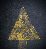 Painted Road Arrow Royalty Free Stock Images