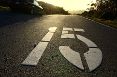 Painted road markings Royalty Free Stock Image