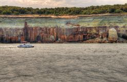 The Painted Rocks National Lakeshore in Upper Michigan has a wide variety of Attractions stock image