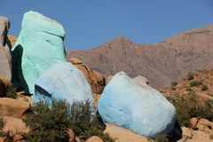 Painted Rocks Stock Photography