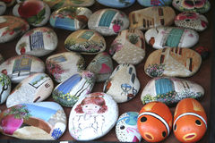 Painted rocks Royalty Free Stock Photography