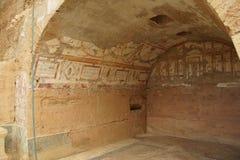 Painted Roman frescoes Stock Image