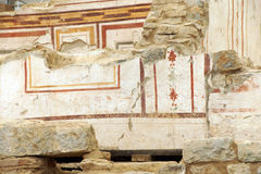 Painted Roman frescoes Stock Photos