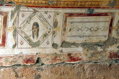 Painted Roman frescoes Royalty Free Stock Photos