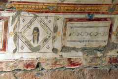 Painted Roman frescoes Royalty Free Stock Photos