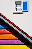 Painted roof Royalty Free Stock Image