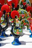 Rooster ornaments, Portugal. Painted rooster ornaments which are the unofficial symbol of Portugal, Algarve, Portugal, Europe Royalty Free Stock Photo