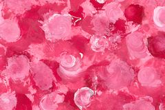 Painted Roses. Painted Pink Roses Stock Illustration