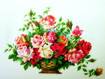 Painted roses bouquet Stock Photo