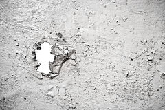 Painted ruined surface with a hole Royalty Free Stock Photography