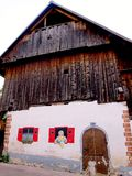 Painted rural home in Slovenia Royalty Free Stock Photo