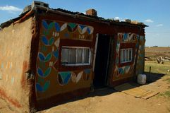 Painted rural home in South Africa. A Painted rural home in South Africa Royalty Free Stock Photography