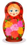 Painted Russian toy Matrioshka Royalty Free Stock Photos