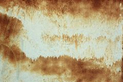 Painted rusty metal surface Royalty Free Stock Photography