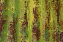 Painted Rusty Tin Royalty Free Stock Images
