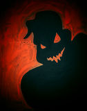 Painted scary ghost Halloween Royalty Free Stock Images