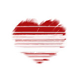 Painted and scratched heart. Stock Photo