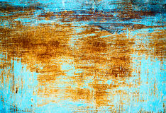Painted and scratched metal surface Royalty Free Stock Photo