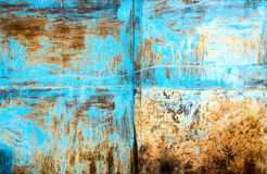 Painted and scratched metal surface Royalty Free Stock Photography