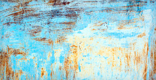 Painted and scratched metal surface Stock Images