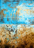 Painted and scratched metal surface Royalty Free Stock Images