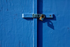 Painted seaside hut door Royalty Free Stock Photography