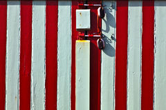 Painted seaside hut door Stock Image