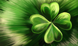 Painted Shamrock Royalty Free Stock Image